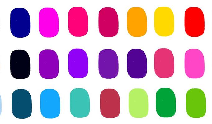 Bright bold colors